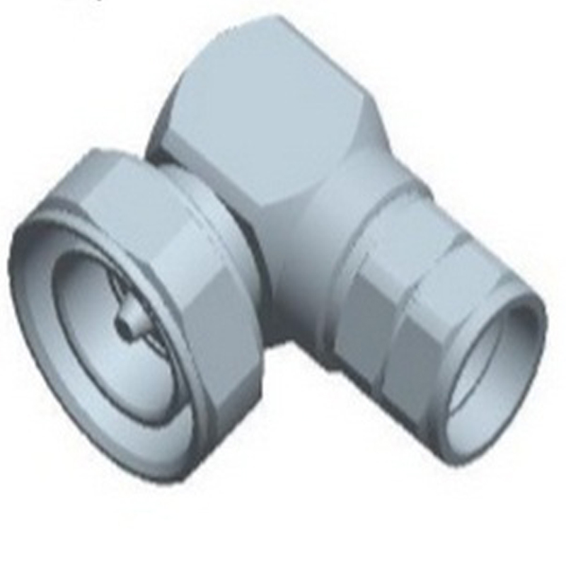 CONNECTOR DIN MALE RIGHT ANGLE FOR CABLE 1/2